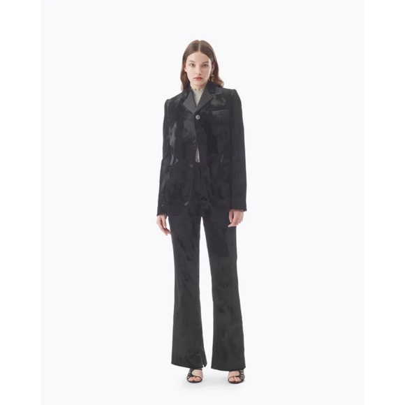 New 3.1 Phillip Lim Black Satin Structured Pants